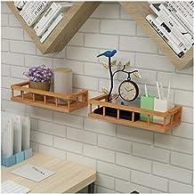 Aan de muur bevestigde Bamboo Kitchen Rekken Specerijen Zout Suiker badkamer accessoires Living Room Opslag Planken