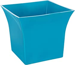 Klassic Plastic Sharp Edge Big Planter Set (Blue, Pack of 4)