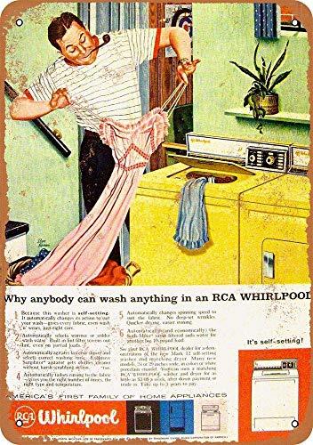 NOT RCA Whirlpool Washing Machines Interessante Poster Einzigartige Wanddekoration Vintage Style Blechschilder Retro Eisen Malerei Für Pub Garage Bar Spielzimmer