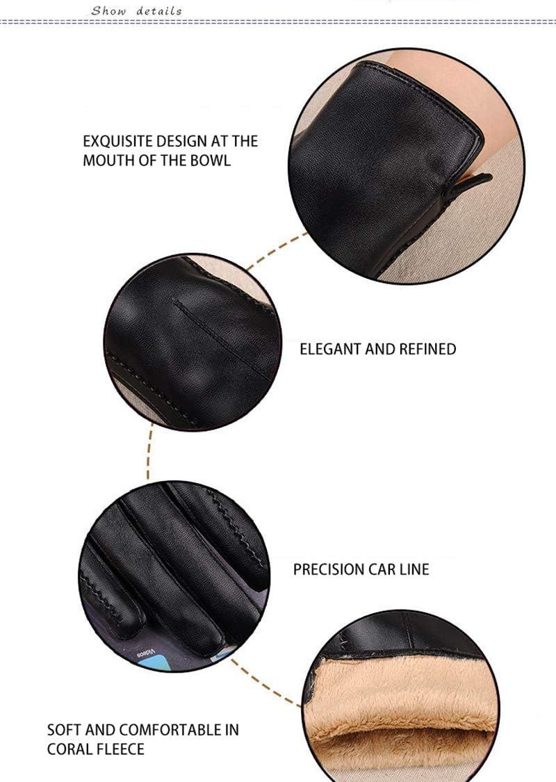 Gloves Elegant Women Lambskin Leather Gloves Autumn and Winter Thermal Hot Trendy Female Glove