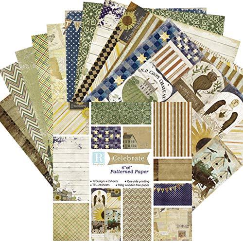 6 Inch Scrapbook Craft Paper Scrapbooking Packs Patroonpapier 24 Vellen, DP100-17