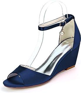 LGYKUMEG Sandales Femme Mode Casual Sandale Talon Compensé Femmes Chaussures Mode Plateforme Escarpins Chaussures de marié...
