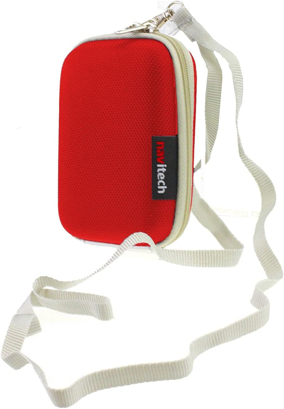Navitech Red low-pricing 4 years warranty Hard Carry Case The TS100 Compatible AlcoMate with