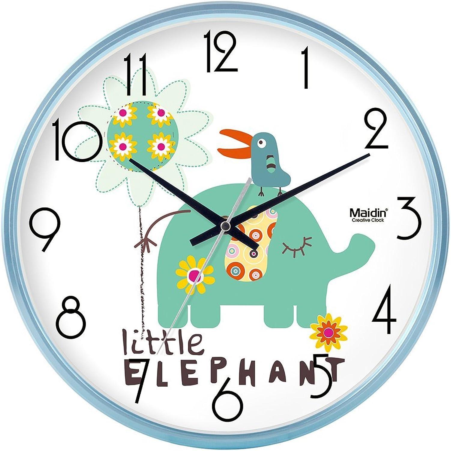 precios bajos Komo silencioso Moderno Decoración Adorno para para para Hogar Reloj de Parojo Sala Minimalista Reloj de Cuarzo Creativa 12pulgadas Azul.Basic  venta al por mayor barato