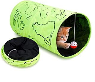 Mumoo Bear Collapsible Cat Play Tunnel Pet Interactive Tubes Toys with Fun Ball for Small Medium for Rabbits Kittens Ferre...