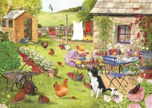 Big 500 Piece Jigsaw Puzzle - Grandma's Garden