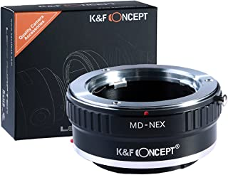 K&F Concept Lens Mount Adapter for Minolta MD MC Lens to Sony NEX E-Mount Camera,fits Sony NEX-3 NEX-3C NEX-5 NEX-5C NEX-5N NEX-5R NEX-6 NEX-7 NEX-F3 NEX-VG10 VG20 etc
