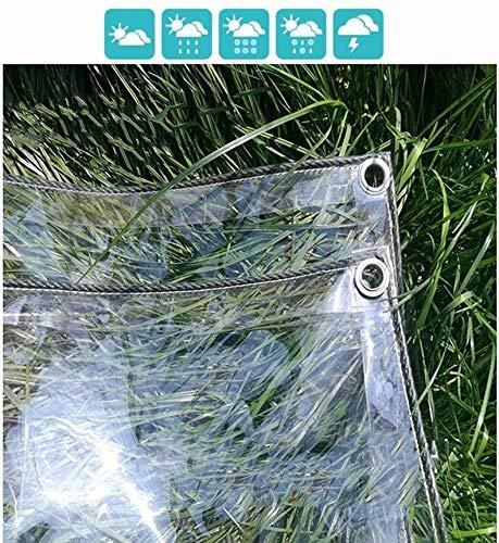 ZHAS Planen, Klarglas Plane Wasserdichtes VerdickungsmittelTransparent Faltbarer Pflanzenschutz Mehrzweck für Gartencamping-2,4X 5m Klar