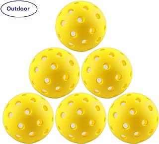 IUZIT Outdoor Pickleball Balls 40 Holes Specifically Designed for Pickleball Sport, High-Vis Optic Orange/Yellow Pickleballs for Outdoor & Indoor Use