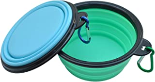 WootPet Collapsible Dog Bowl, BPA Free, Food Grade Silicone, Foldable Expandable for Dog/Cat Food Water Feeding, Portable Travel Bowl for Camping