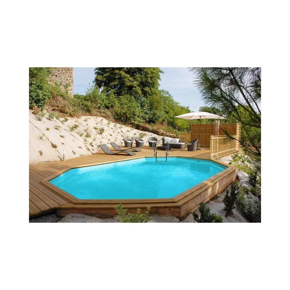 Gre 790098 790098-Piscina ovalada SUNBAY 672 x 472 x 146 cm con escalera Ext. Madera/Int. Acero inoxidable y filtro de arena 12 m3/h: Amazon.es: Bricolaje y herramientas