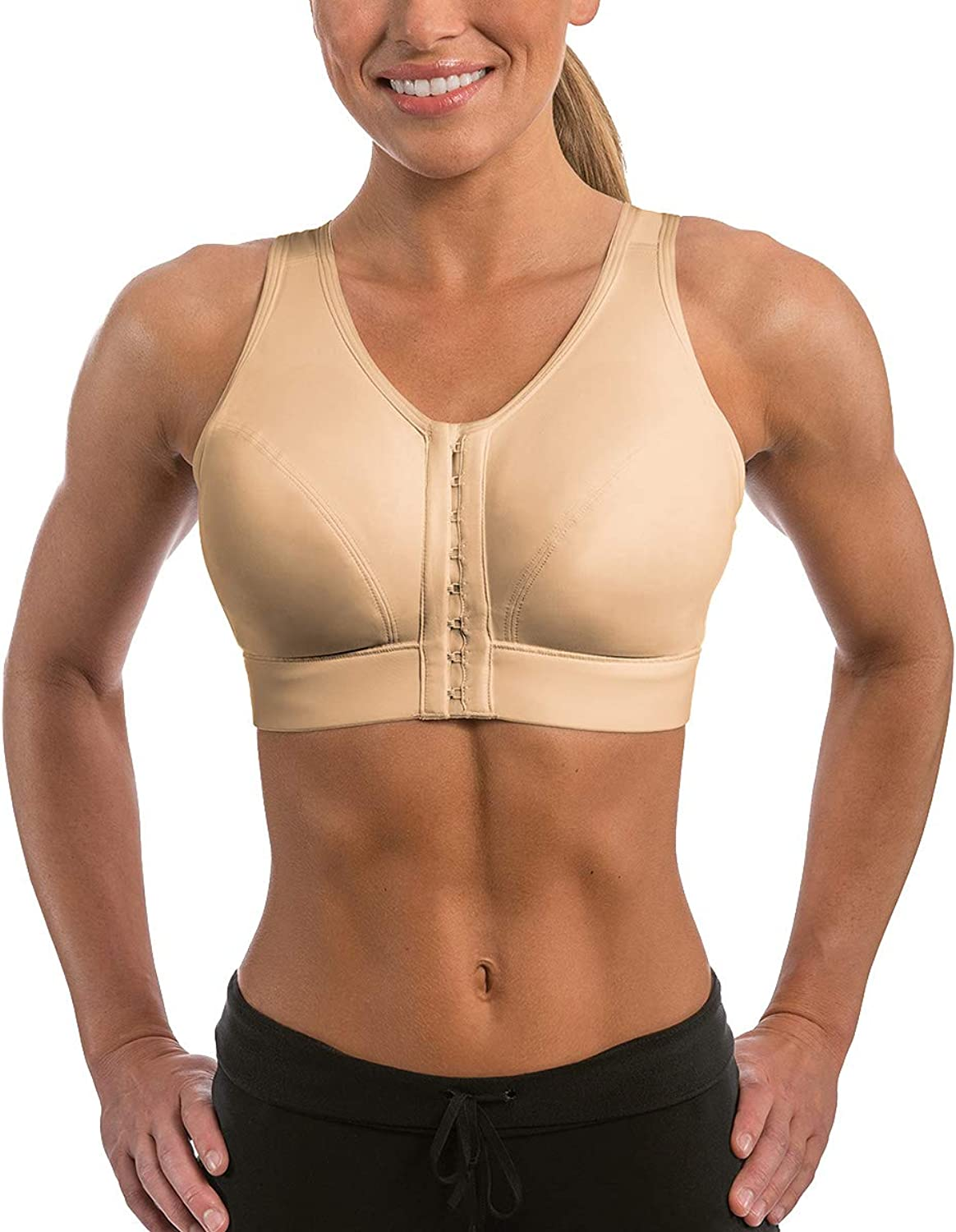 Enell Medium Control WireFree Sports Bra, 4, Ecru