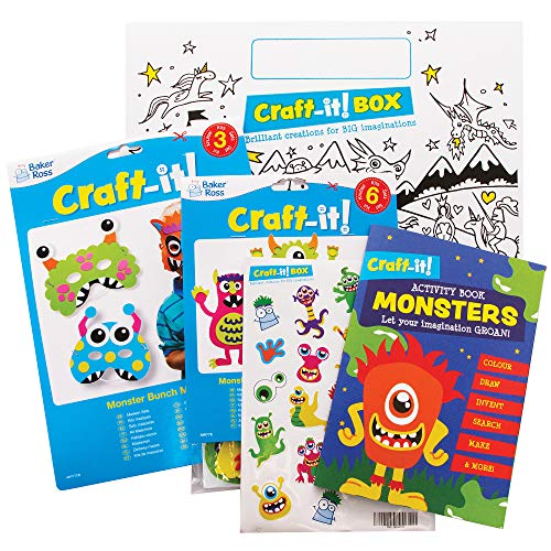 Baker Ross CBS012 Monsters Arts and Crafts Pack for Kids - Two Fun...