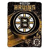 NHL Boston Bruins 'Ice Dash' Micro Raschel Throw Blanket, 46' x 60'