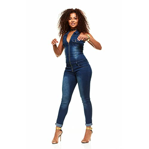 d697991c054 Skinny Jeans for Women Sleeveless Slim Fit Stretch Jumpsuit Romper Junior  sizes