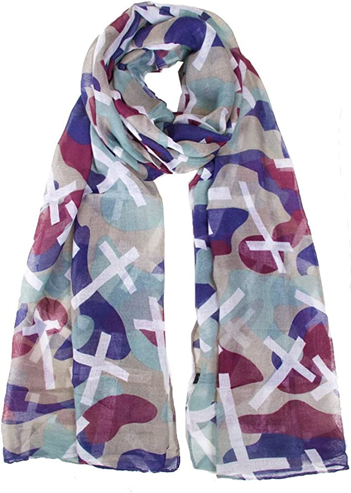 ScarvesMe Unisex Camouflage Cross Printed Soft Oblong Scarf