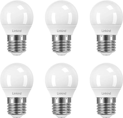 Linkind Ampoule dimmable 5W Golf P45 E27, lampe à incandescence 40W remplacée, 2700K blanc chaud 470lm, certifié CE /...