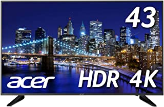 Acer 4Kモニター DM431Kbmiiipfx 43インチ IPS 半光沢 3840x2160 4K 75Hz 250cd 5ms HDR Ready HDMI DisplayPort ブラック