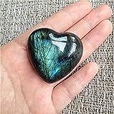 Aitelei, pietra di labradorite curativa, quarzo, pietra di luna, pietra preziosa a forma di cuore, per creare gioielli, pietra curativa liscia Ciondolo.