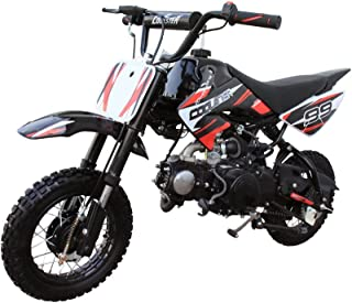 Coolster Kids Gas Mini Dirt Bike 70cc Pit Bike Small Motorbike Semi-Automatic