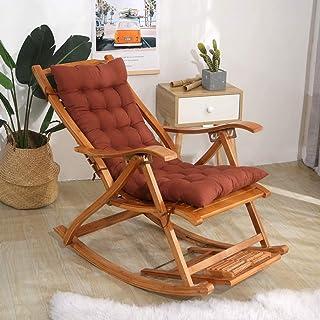 Ginrly Cojín Chaise Lounge Acolchado Cojín de Respaldo Alto Patio Columpio Cojín de Silla Interior al Aire Libre Funda de Asiento Cojín de Silla mecedora-40x110cm(16x43inch) marrón