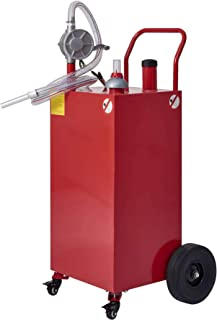CO-Z 35 Gallon Fuel Tank on Casters & Wheels, Portable Gas Caddy with Fuel Transfer Pump & Hose, Heavy-Duty Gasoline Diese...