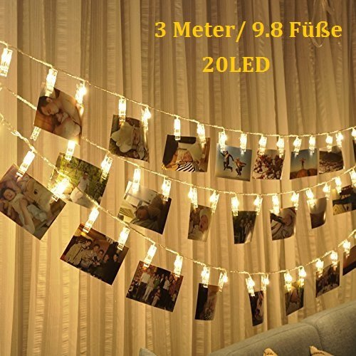 Enjoydeal- Guirnalda 20 pinzasLED fotos, 3 metros