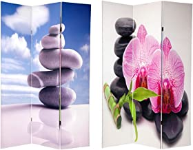 Oriental Furniture 6 ft. Tall Double Sided Zen Room Divider