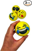 BBest1 Emoji Stress Balls (3-Pack) Anti-Stress & Anxiety Relief | Squishy Squeeze & Sensory Toys | Kids & Adults | Small, Colorful, Smiling Faces | ADHD, Fidget, Tension
