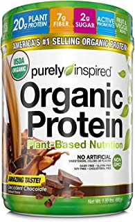 Purely Inspired Organic Protein Shake Powder, 100% Plant Based with Pea & Brown Rice..