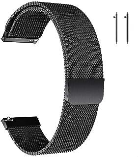 Cinturino in Metallo,Cinturino con Chiusura Magnetico,Uomo Donna Universale Cinturini di Ricambio per Orologio Intelligent...