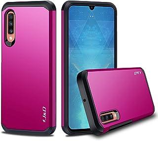 comprar comparacion J&D Compatible para Galaxy A70 Funda, Protección Pesada Doble Capa Híbrida Resistente Funda Protectora y Robusta para Sa...
