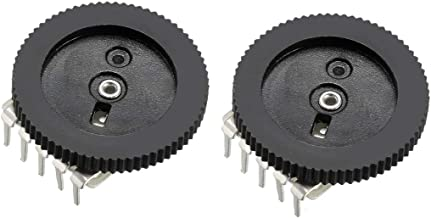 uxcell 1K Ohm Dial Wheel Potentiometer for Audio Stereo Volume Switch Control 16x2mm 2Pcs