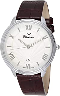 Charisma Men's White Dial Leather Band Watch - 6848