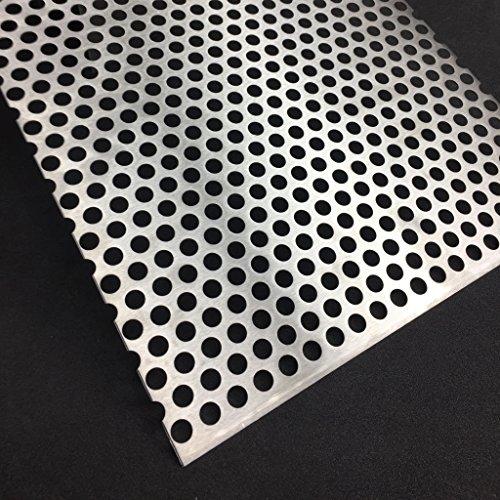 Lochblech Edelstahl RV10-15 V2A K240 1,5mm Zuschnitt individuell auf Maß NEU günstig (500 mm x 300 mm)