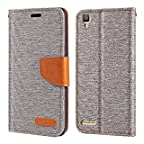 Oppo F1 Case, Oxford Leather Wallet Case with Soft TPU Back