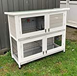 BUNNY BUSINESS 2-Tier Double Decker Rabbit/Guinea Pig Hutch Hutches with...