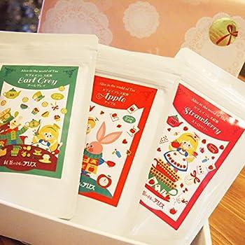 カフェインレス紅茶 選べる3点ギフトセット・箱入りプレゼント包装済み(妊婦さん・授乳中の方・出産祝い・母の日)ノンカフェイン (【ミルクティー向きセット】ストロベリー・キャラメル・アップル)