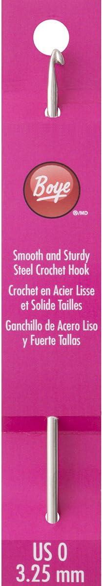 Boye Seattle Mall 5-Inch Steel Crochet Size service 0 Hook