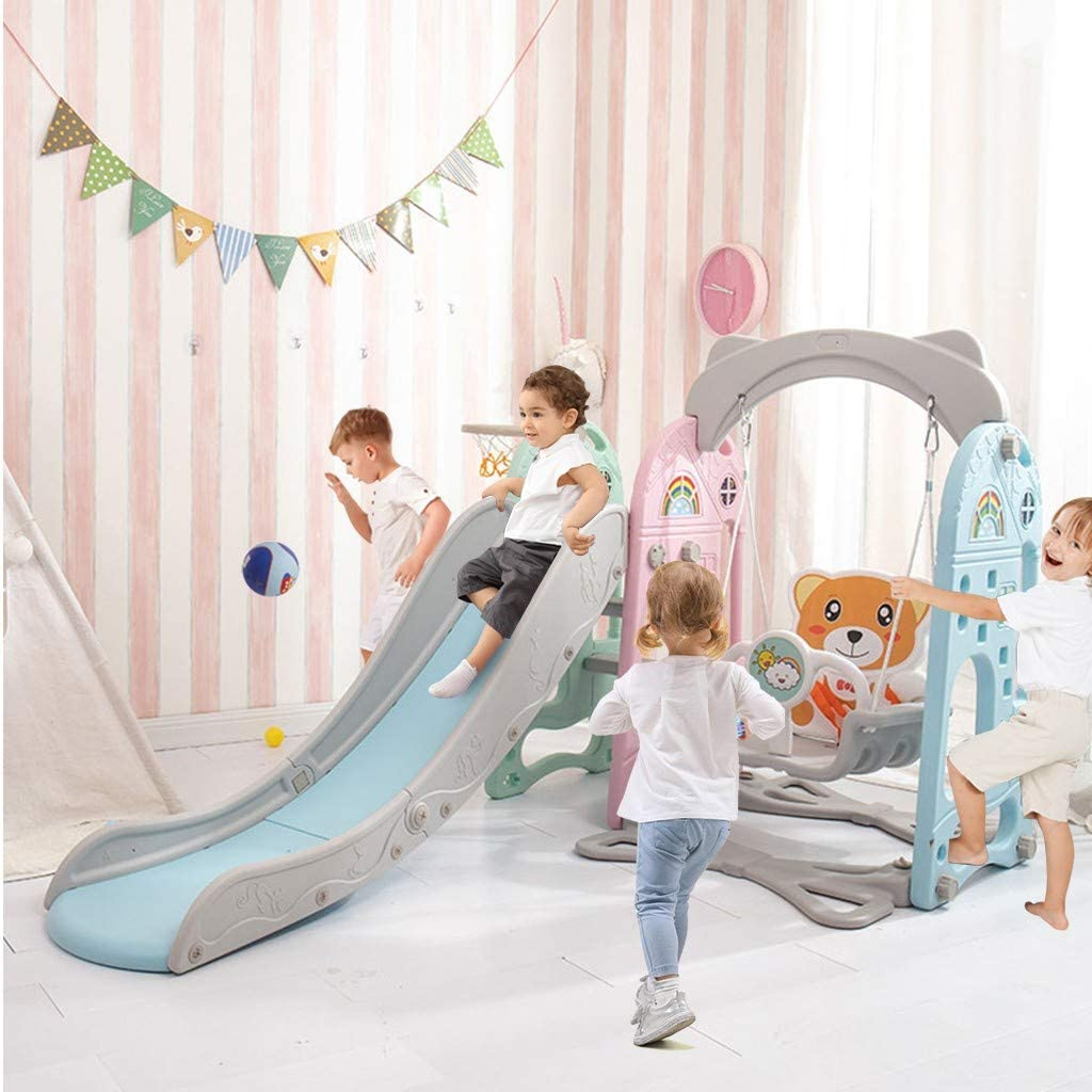 ZHOU2# Toddler Swing Set 3 in Play 1 Sliding Weekly update Climber Popular brand B with