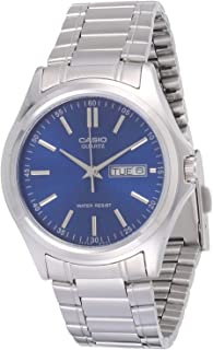 Casio Men's Blue Dial Stainless Steel Analog Watch - MTP-1239D-2ADF