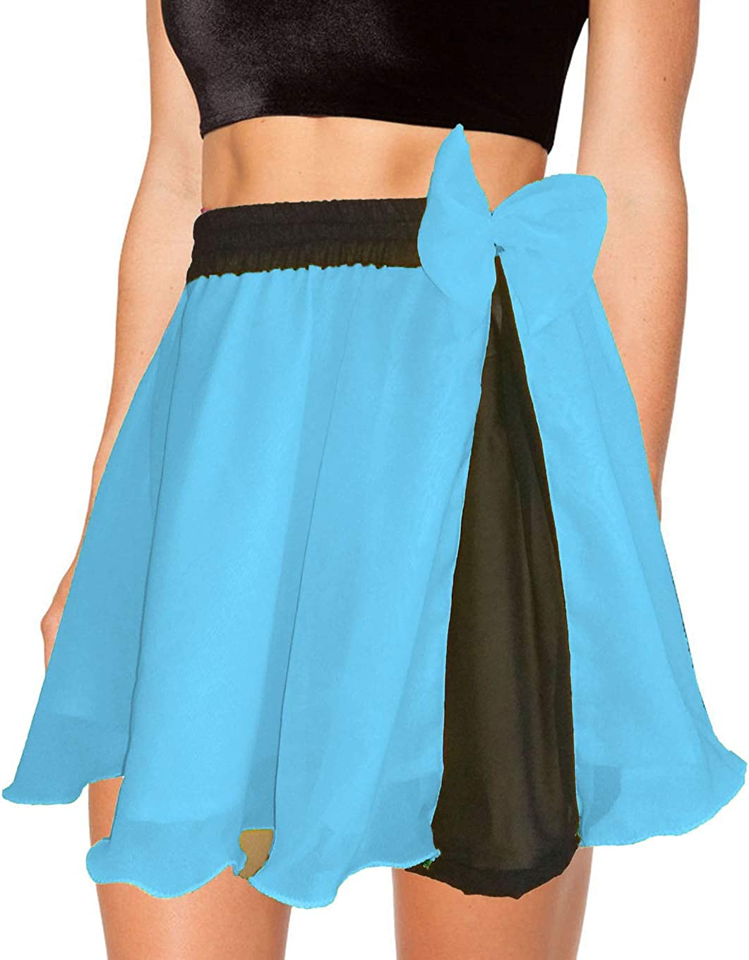 Meek Mercery Belly Dancing Pleated Short Skirts Chiffon Short Skirt Casual Wear Skirt C11