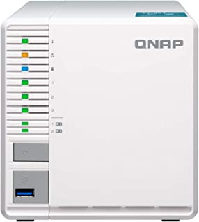QNAP TS-351 (2GB RAM) 3-Bay 个人云 NAS 非常适合 RAID5 存储处理器 (TS-351-2G-US)