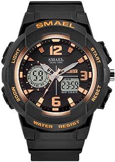 Women's Sport Wrist Watch,Quartz Dual Movement with Analog-Digital Display Watches for Women - Rose Gold