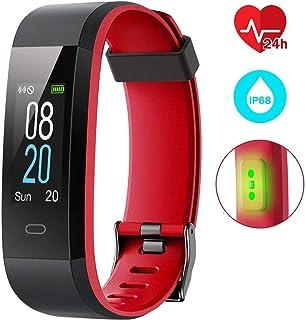 Pulsera Actividad Inteligente Impermeable IP68 Pantalla 0.96'' a Color con 14 Modalidades con Monitor de Calorías Sueño Cardíaco y Podómetro Fitness GPS 12-15 días Captura de Cámara para iOS y Android