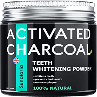 Activated Charcoal Teeth Whitening Powder – Coconut Teeth Whitener – Effective Remover Tooth Stains for a Healthier Whiter...