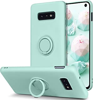 BENTOBEN Samsung Galaxy S10e Case, Slim Silicone Soft Rubber with 360° Ring Holder Kickstand Car Mount Supported Shockproo...