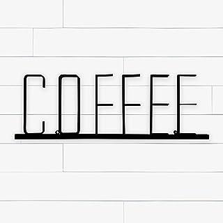 Barwild Industrial Farmhouse Style Metal Coffee Sign, Decorative Word Wall Sign, Vintage Coffee Interior Decoration for Ki...