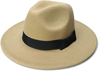 Sun Hat for men and women Sun Straw Fedora Beach Hat Fine Braid UPF50+ for Both Women Men