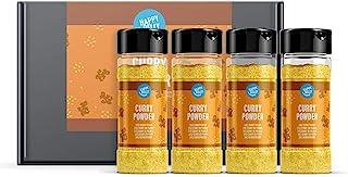 Marca Amazon - Happy Belly - Curry en polvo, 4x35g